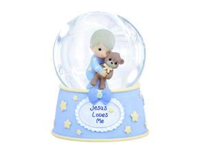 Precious Moments 'Jesus Loves Me' 100mm Musical Water Globe - Blue