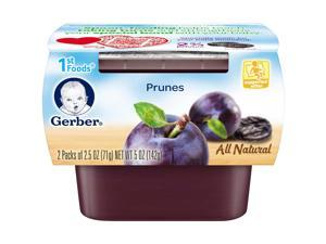 Gerber 1st Foods Prunes Baby Food 2.5 Ounce - 2 Pack