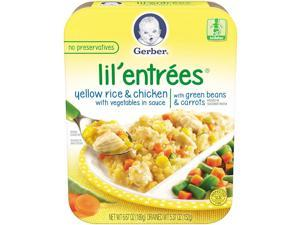 Gerber Lil Entrees Yellow Rice & Chicken with Vegetables in Sauce with Green