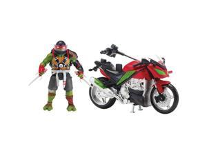 Teenage Mutant Ninja Turtles Movie 2 Action Figu - Raphael with Ragin' Racer