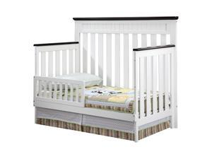 Delta Children Chalet Toddler Guard Rail - White Ambiance