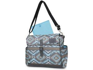 Kelty Convertible Messenger/Backpack Diaper Bag - Turquoise/Grey Aztec