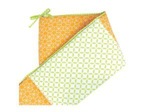 Trend Lab Savannah and Levi Crib Bumpers - White/Orange/Green