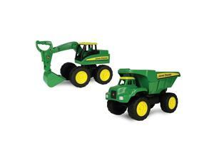 John Deere 15 inch Big Scoop Loader and Dump Truck 2 pack