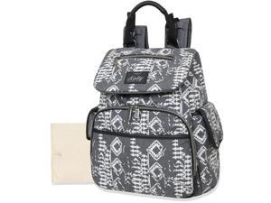 Kelty Deluxe Wide Opening Backpack with Abstract Print - Grey/White