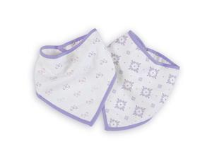 aden by aden anais Girls 2 Pack Lavender Lady Bandana Bibs