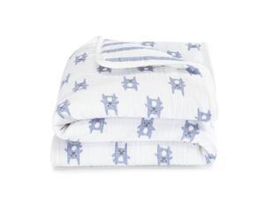 aden® by aden + anais® Blue Bunny Flannel Mini Muslin Blanket