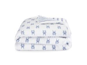 aden by aden anais Blue Bunny Flannel Muslin Blanket