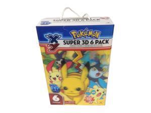 Pokemon Super 3D Rectangular Lenticular Puzzle Box - 6 Pack