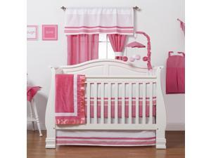 One Grace Place - Simplicity Hot Pink's 3-Piece Crib Bedding Set