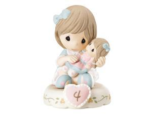 Precious Moments Growing In Grace Brunette Girl Bisque Porcelain Figurine
