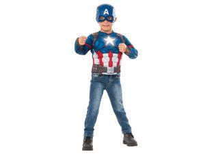 Marvel Civil War Capital America Deluxe Light Up Costume Top Set