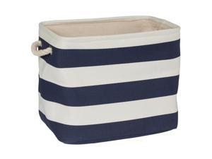 Creative Bath Products Storage Tote - Navy Striped