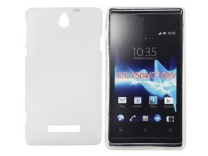 Kit Me Out USA TPU Gel Case for Sony Xperia E - Clear Frosted Pattern