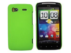 Kit Me Out USA Hard Clip-on Case + Screen Protector with MicroFibre Cleaning Cloth for HTC Sensation /Sensation XE - Green Smooth Touch Textured