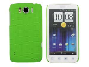 Kit Me Out USA Hard Clip-on Case + Screen Protector with MicroFibre Cleaning Cloth for HTC Sensation /Sensation XL - Green Smooth Touch Textured