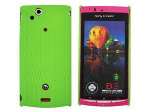 Kit Me Out USA Hard Clip-on Case for Sony Xperia Arc / Arc S X12 - Green Smooth Touch Textured
