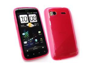 Kit Me Out USA TPU Gel Case + Screen Protector with MicroFibre Cleaning Cloth for HTC Sensation / Sensation XE - Pink Frosted Pattern