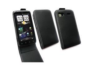 Kit Me Out USA PU Leather Flip Case for HTC Sensation / Sensation XE - Black