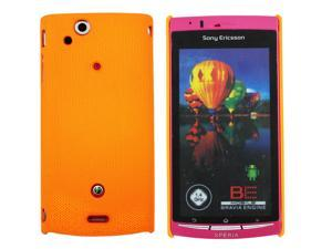 Kit Me Out USA Hard Clip-on Case for Sony Xperia Arc / Arc S X12 - Orange Smooth Touch Textured