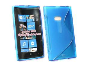 Kit Me Out USA TPU Gel Case for Nokia Lumia 900 - Blue S Wave Pattern