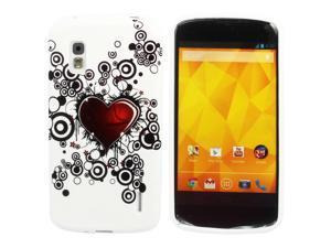 Kit Me Out USA IMD TPU Gel Case for LG Google Nexus 4 E960 - Tattoo Heart