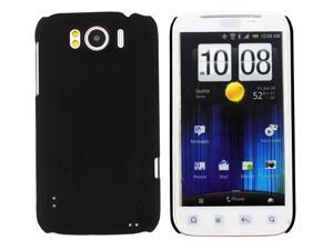 Kit Me Out USA Hard Clip-on Case for HTC Sensation /Sensation XL - Black Smooth Touch Textured