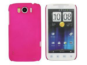 Kit Me Out USA Hard Clip-on Case + Screen Protector with MicroFibre Cleaning Cloth for HTC Sensation /Sensation XL - Hot Pink Smooth Touch Textured