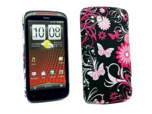 Kit Me Out USA Plastic Clip-on Case for HTC Sensation / Sensation XE - Pink Garden