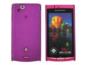 Kit Me Out USA Hard Clip-on Case for Sony Xperia Arc / Arc S X12 - Metallic Purple Smooth Touch Textured