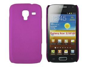 Kit Me Out USA Hard Clip-on Case for Samsung Galaxy Ace 2 i8160 - Metallic Purple Smooth Touch Textured