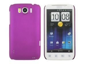 Kit Me Out USA Hard Clip-on Case + Screen Protector with MicroFibre Cleaning Cloth for HTC Sensation /Sensation XL - Metallic Purple Smooth Touch Textured