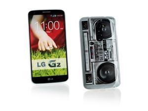 Kit Me Out USA IMD TPU Gel Case + Screen Protector with MicroFibre Cleaning Cloth for LG G2 D802 - Multicoloured Stereo