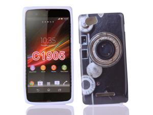 Kit Me Out USA IMD TPU Gel Case for Sony Xperia M - Multicoloured Vintage / Retro Camera