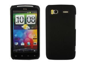 Kit Me Out USA Hard Clip-on Case for HTC Sensation /Sensation XE - Black Smooth Touch Textured