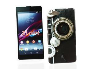 Kit Me Out USA IMD TPU Gel Case for Sony Xperia Z1 Compact - Multicoloured Vintage / Retro Camera