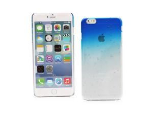 "Kit Me Out USA Hard Clip-on Case for Apple iPhone 6 Plus 5.5"" Inch - Blue / Clear Transparent Raindrops Water Effect"