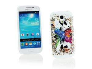 Kit Me Out USA IMD TPU Gel Case for Samsung Galaxy S4 Mini i9190 (NOT FOR S4) - White Coloured Butterfly