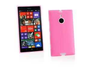 Kit Me Out USA TPU Gel Case for Nokia Lumia 1520 - Pink Frosted Pattern