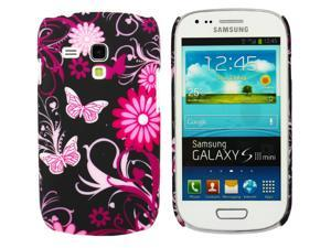 Kit Me Out USA Plastic Clip-on Case for Samsung Galaxy S3 Mini i8190 (NOT FOR S3) - Pink Garden