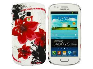 Kit Me Out USA Plastic Clip-on Case for Samsung Galaxy S3 Mini i8190 (NOT FOR S3) - Oriental Flowers
