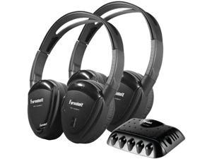 POWER ACOUSTIK HP-22IRT 2 Sets of Single-Channel IR Wireless Headphones with Transmitter - HP-22IRT