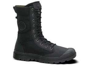 Mens Palladium Pampa Tactical Leather Ankle Boot Casual Lace-Up Black