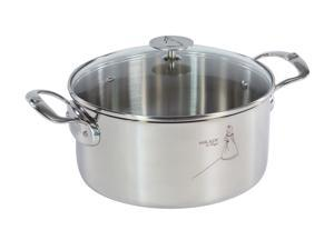 De Buyer Milady Stainless Steel Stew Pan with Lid - 5.7 Quarts
