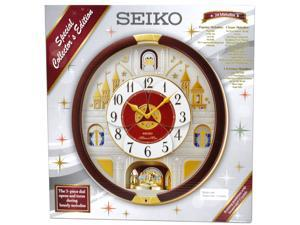 Seiko Special Collector's Edition Wall Clock with Hourly Melodies and made with Swarovski Crystals