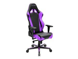 DXRacer Racing Series OH/RV001/NV Newedge Edition Racing Bucket Seat Office Chair Gaming Chair PVC Ergonomic Computer Chair eSports Desk Chair Executive Chair With Pillows