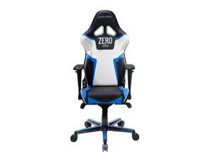 DXRacer Racing Series OH/RV118/NBW/ZERO Newedge Edition Black Blue White Racing Bucket Seat Office Chair Gaming Chair Ergonomic Computer Chair eSports Desk Chair Executive Chair Furniture With Pillows