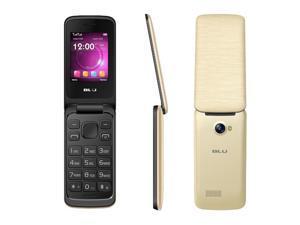 Blu Diva Flex 2.4 T350 Gold Unlocked GSM Dual-SIM Flip Phone