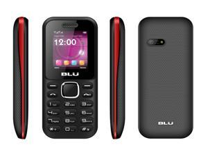 BLU Jenny II Unlocked GSM Dual-SIM Cell Phone - T250 (Black/Red)