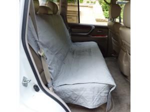"Deluxe Quilted and Padded Back Seat Bench cover - One size fits all 56""W Grey"